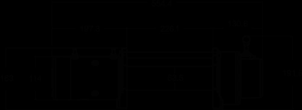 Maatschets WARN type 9.5 XDC of 9.5 XDC-S - 12V klassieke treklier met staalkabel