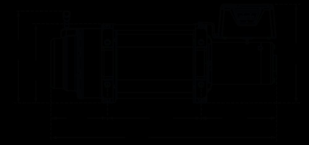 Maatschets WARN type M12000-M15000 - 12V of 24V heavy weight treklier met stalen kabel